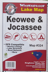 LAKE JOCASSEE & KEOWEE MAP